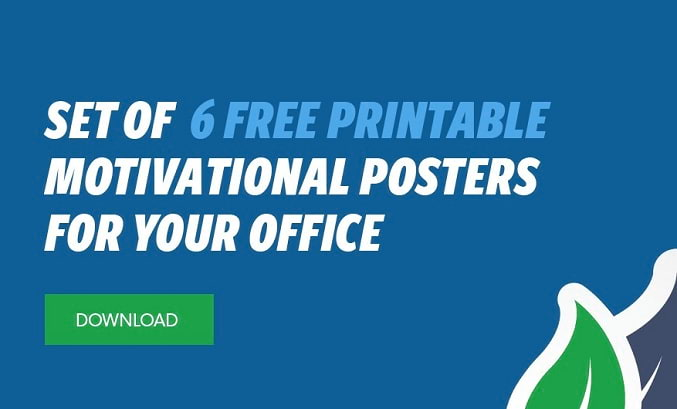 Set of 6 free motivational posters for your office